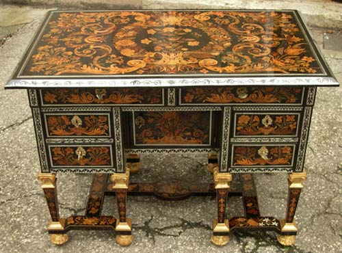 marqueterie boulle bureau mazarin en marqueterie. Black Bedroom Furniture Sets. Home Design Ideas